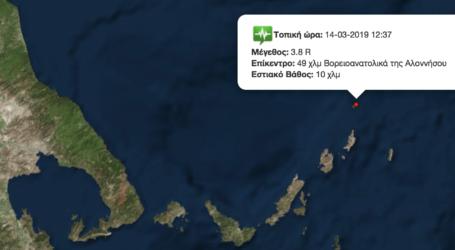 3,8 ρίχτερ στις Βόρειες Σποράδες [χάρτης]