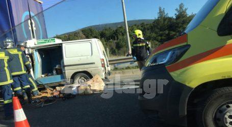 Βαρυμπόμπη: Τροχαίο ατύχημα στην Εθνική Οδό