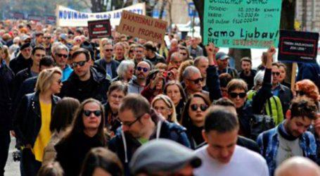 Διαδήλωση δημοσιογράφων κατά της λογοκρισίας