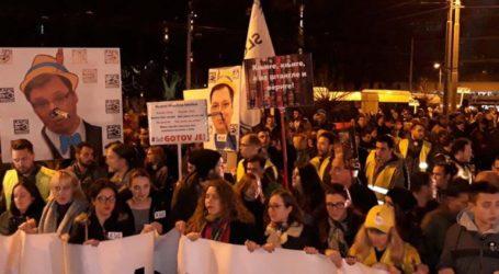 Οι διαδηλώσεις εναντίον του Βούτσιτς συνεχίστηκαν για 13η εβδομάδα