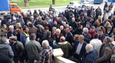 Παράσταση διαμαρτυρίας κατοίκων χωριών του Πλατανιά που επλήγησαν από την κακοκαιρία