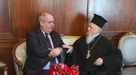 Επίσκεψη του Τέρενς Κουίκ στο Οικουμενικό Πατριαρχείο