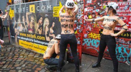 Διαμαρτυρία των «Femen» σε δρόμο του Αμβούργου με οίκους ανοχής