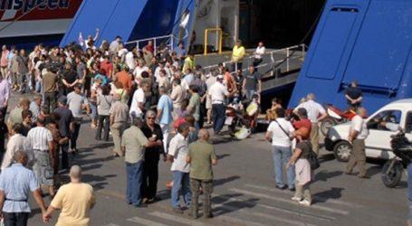 Αυξημένη η κίνηση στα λιμάνια του Πειραιά της Ραφήνας και του Λαυρίου