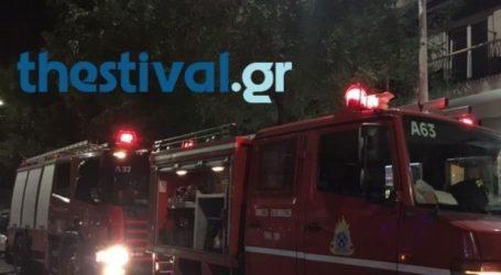 Πυρκαγιά σε τροχόσπιτο στη δυτική Θεσσαλονίκη