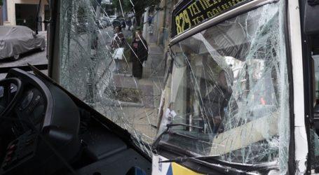 Σύγκρουση λεωφορείων στο Αιγάλεω