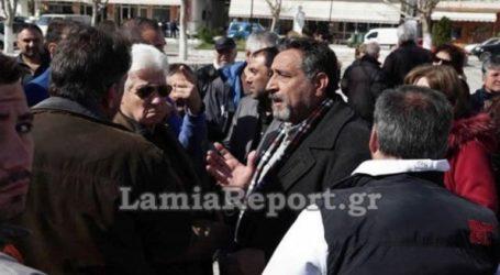 Συγκέντρωση διαμαρτυρίας κατοίκων της Ανθήλης Φθιώτιδας για τον καταυλισμό