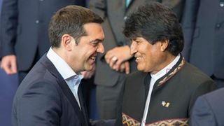 Την ικανοποίησή του για τις συνομιλίες του με τον Αλ. Τσίπρα εξέφρασε ο Έβο Μοράλες