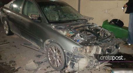Ανατινάχθηκε αυτοκίνητο με υγραέριο στο Ηράκλειο