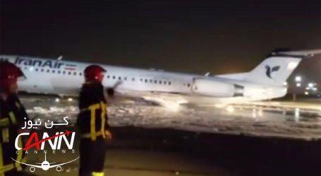 Αεροσκάφος έπιασε φωτιά κατά την προσγείωση