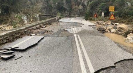 Παραμένουν κλειστά τμήματα του επαρχιακού οδικού δικτύου στο Ρέθυμνο