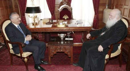 Επίσκεψη Μανώλη Κεφαλογιάννη στον Αρχιεπίσκοπο Ιερώνυμο