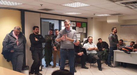 O Κώστας Μπακογιάννης στη Δημοτική Αστυνομία της Αθήνας