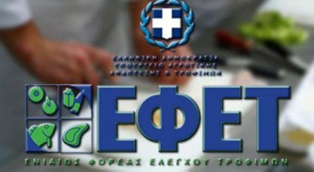 Ενημέρωση ΕΦΕΤ για τις κατασχέσεις προϊόντων
