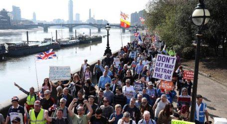 Συλλήψεις και μικροεπεισόδια στις διαδηλώσεις στο Λονδίνο για το Brexit