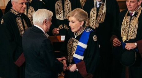 Η Μαριάννα Βαρδινογιάννη αναγορεύτηκε σε επίτιμη διδάκτορα του Τμήματος Ιατρικής του Πανεπιστημίου Αθηνών