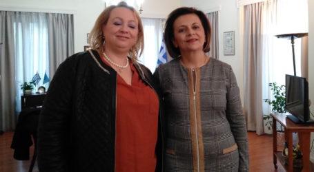 Συνάντηση της Μ. Χρυσοβελώνη στο ΥΠΕΣ με την Πρόεδρο του Συνδέσμου Επιχειρηματιών Γυναικών Ελλάδος