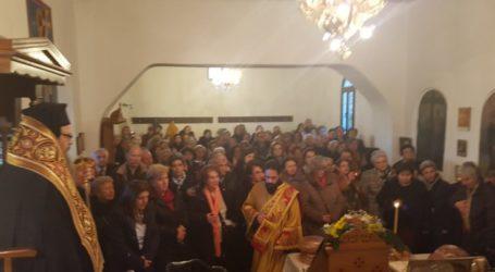 Μεγάλη προσέλευση πιστών στον εσπερινό στη Ραψάνη για τον Άγιο Γεώργιο εκ Ραψάνης