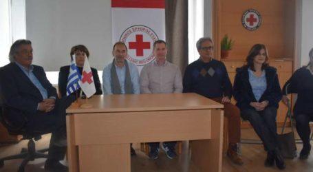 Δωρεά ενός τόνου υγειονομικού υλικού από τον Ερυθρό Σταυρό Λάρισας