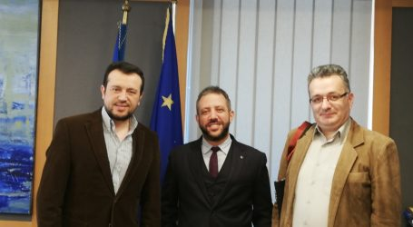 Ο Αλ.Μεϊκόπουλος στον Υπουργό Ψηφιακής Πολιτικής για την ψηφιοποίηση του αρχείου της Ακαδημίας Θεολογικών Σπουδών Βόλου