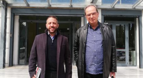 Ο Α. Μεϊκόπουλος στο Υπουργείο Παιδείας για την προώθηση των δράσεων της Ακαδημίας Θεολογικών Σπουδών Βόλου.