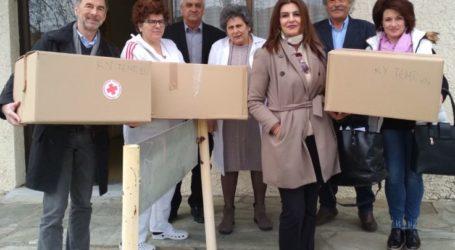 Υγειονομικό υλικό από τη Γαλλία παραδόθηκε στον Δήμο Τεμπών