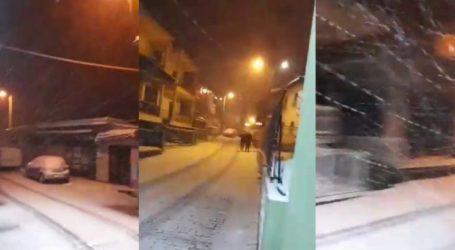 Εντυπωσιακό βίντεο: Χιονοθύελλα έπληξε τη Βερδικούσια κι άλλες περιοχές στον Τύρναβο