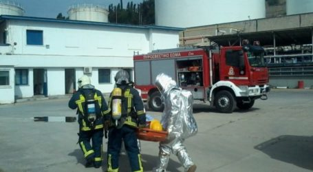 Άσκηση προσομοίωσης πυρκαγιάς σε υποσταθμό φυσικού αερίου της ΑΓΕΤ
