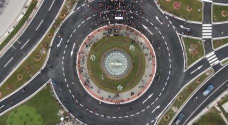 Βόλος: Δείτε νέο εναέριο βίντεο από τα εγκαίνια του κυκλικού κόμβου