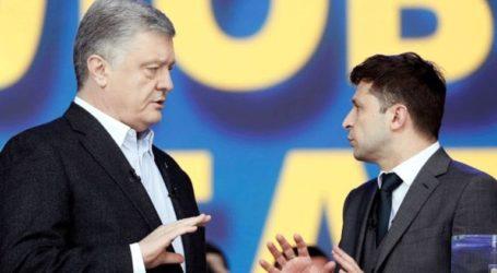 Σε ένα ντιμπέιτ-σόου, Ζελένσκι και Ποροσένκο αλληλοκατηγορούνται