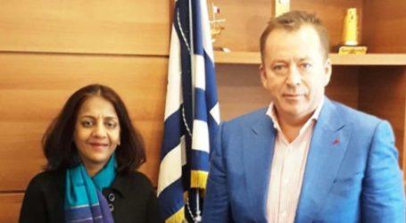 Την πρέσβειρα της Ινδίας υποδέχθηκε στο υπουργείο ο Κόκκαλης