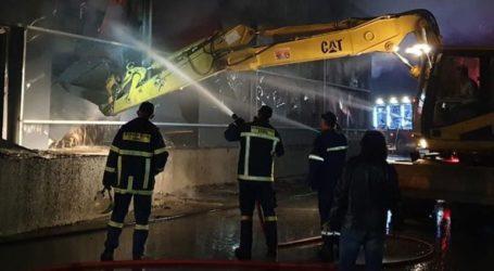 Υπό έλεγχο η φωτιά στο εργοστάσιο ζαχαροπλαστικής στις Σέρρες