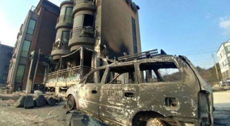 Σε κατάσταση φυσικής καταστροφής η Ν. Κορέα εξαιτίας των τεράστιων δασικών πυρκαγιών που μαίνονται