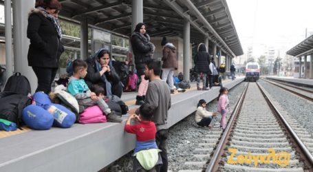 Κατάληψη από μετανάστες στον Σταθμό Λαρίσης