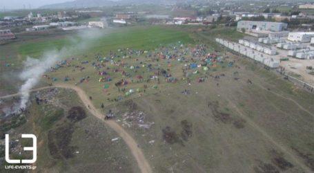 Ο νέος καταυλισμός που έστησαν οι πρόσφυγες από ψηλά