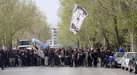 Συγκέντρωση και πορεία στους κεντρικούς δρόμους της Θεσσαλονίκης από τους οπαδούς του ΠΑΟΚ