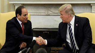 Ο Τραμπ στηρίζει θερμά τον Αιγύπτιο πρόεδροΆμπντελ Φάταχ αλ Σίσι