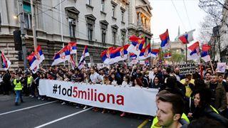 Όλα έτοιμα στο Βελιγράδι για τη συγκέντρωση κατά του Βούτσιτς
