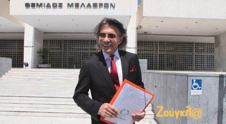 O Ηλίας Ψινάκης κατέθεσε στον Άρειο Πάγο την ιδρυτική διακήρυξη της πρωτοβουλίας «Πολίτες»
