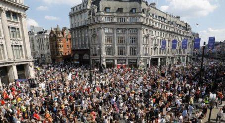 Τουλάχιστον 120 συλλήψεις ακτιβιστών που διαμαρτύρονται για την κλιματική αλλαγή στο Λονδίνο