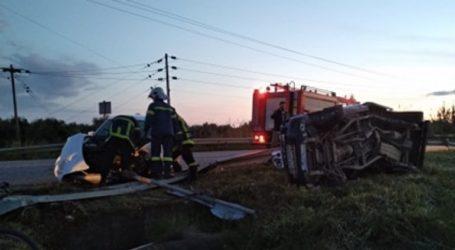 Τροχαίο με δύο τραυματίες στο Μεσολόγγι