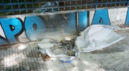 Οπαδοί του ΠΑΟΚ έκαψαν πανό στο Ιβανώφειο