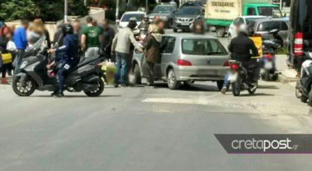 Τροχαίο ατύχημα με διανομέα φαγητού στο Ηράκλειο