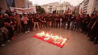 Πορεία Αρμενίων στο κέντρο της Αθήνας για τα 104 χρόνια από τη Γενοκτονία