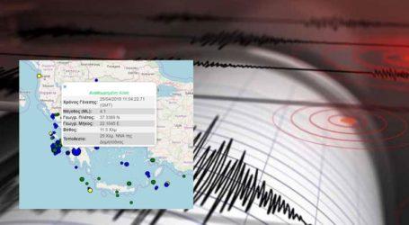 Σεισμική δόνηση 4,1R νοτιοανατολικά της Δημητσάνας