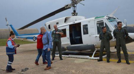 Η πρώτη δοκιμαστική πτήση του ΕΚΑΒ στο Άκτιο
