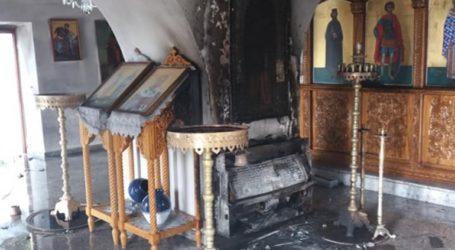 Ζημιές από φωτιά σε εκκλησία της Κρήτης
