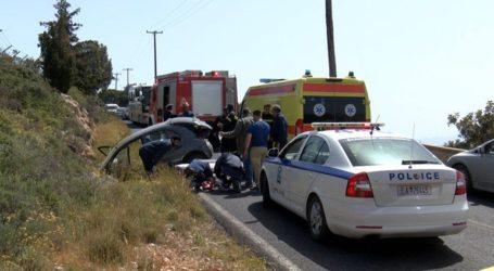 Εγκλωβίστηκαν τραυματίες σε τροχαίο ατύχημα στον Βλητέ στα Χανιά
