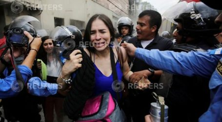 Επεισόδια στο περιθώριο διαδήλωσης εναντίον των μεταρρυθμίσεων του Ερνάντες
