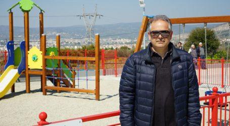 Σαββάκης: Αναβαθμίζει την ποιότητα ζωής η νέα παιδική χαρά στην Άλλη Μεριά